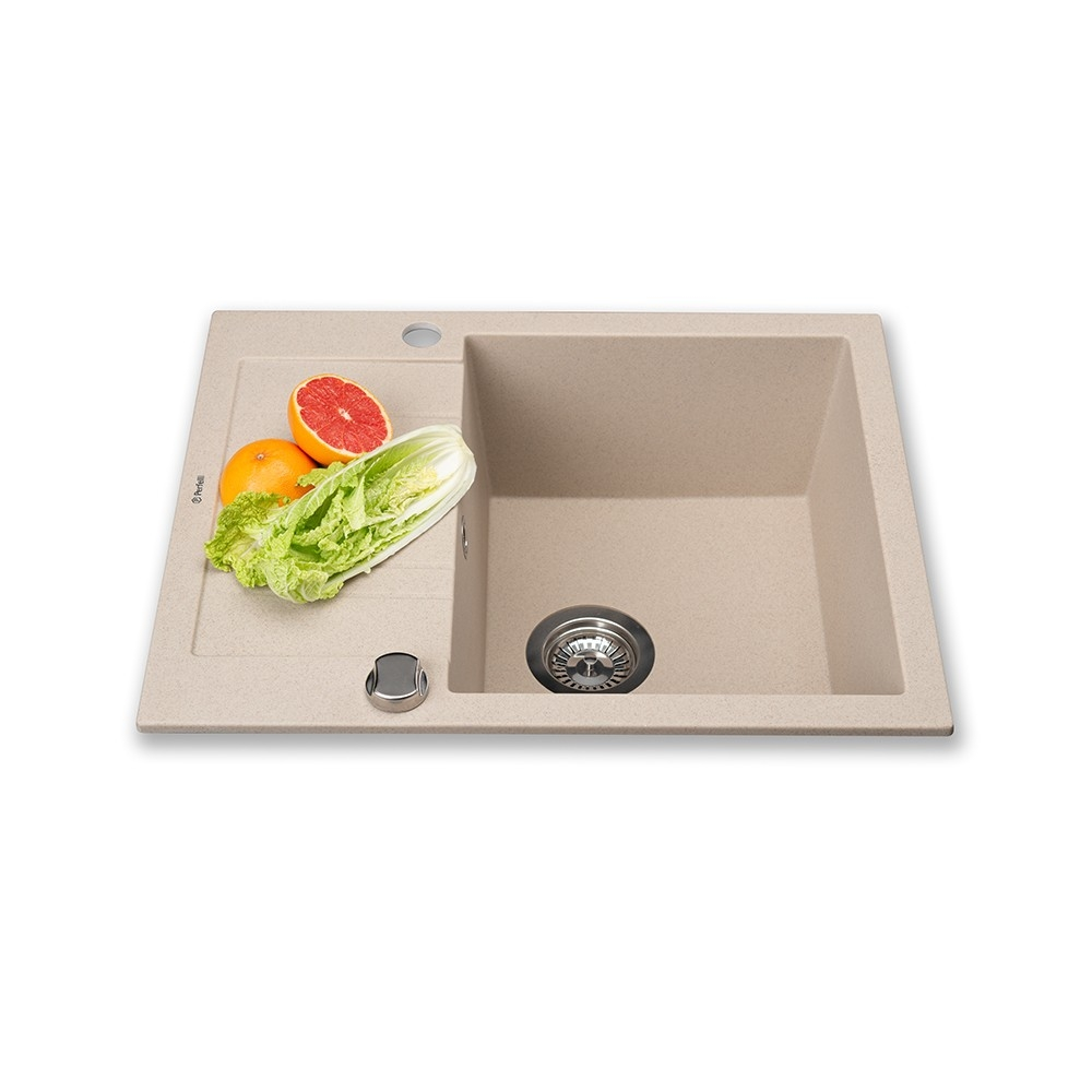 Granite kitchen sink Perfelli LINEA PGL 134-60 SAND
