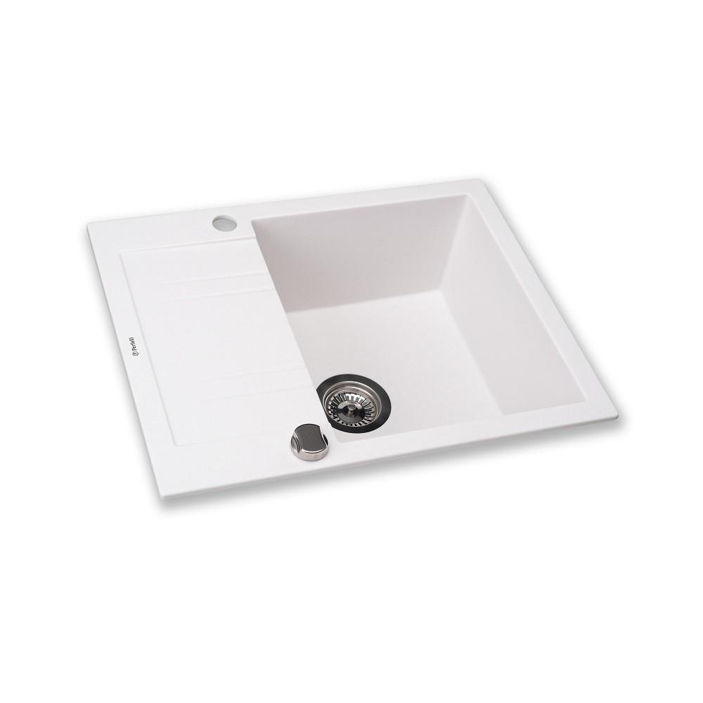 Мойка кухонная гранитная  Perfelli LINEA PGL 134-60 WHITE