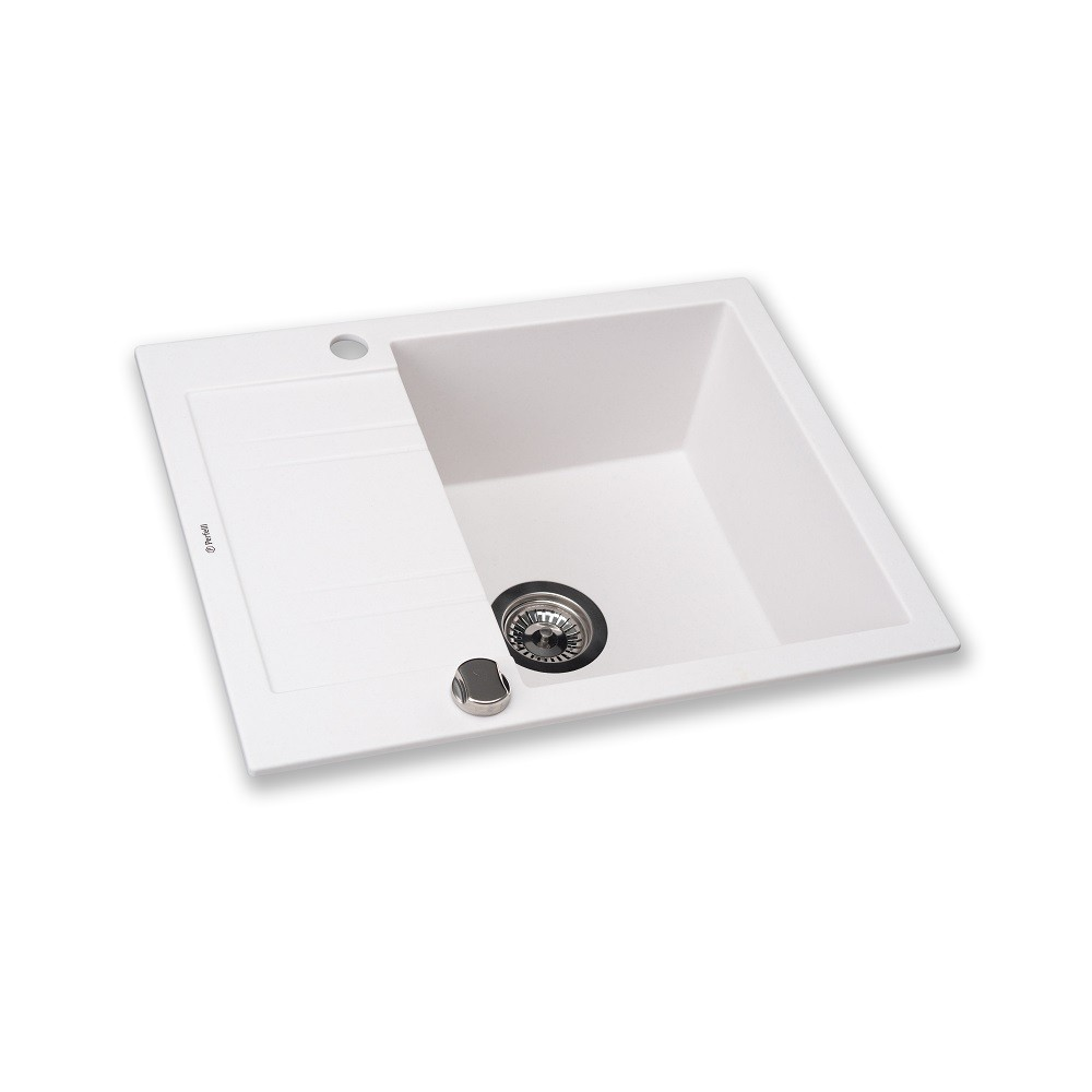 Granite kitchen sink Perfelli LINEA PGL 134-60 WHITE