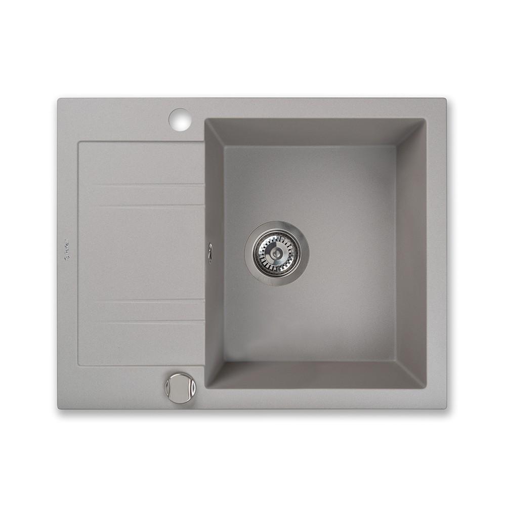 Granite kitchen sink Perfelli LINEA PGL 1341-60 GREY METALLIC