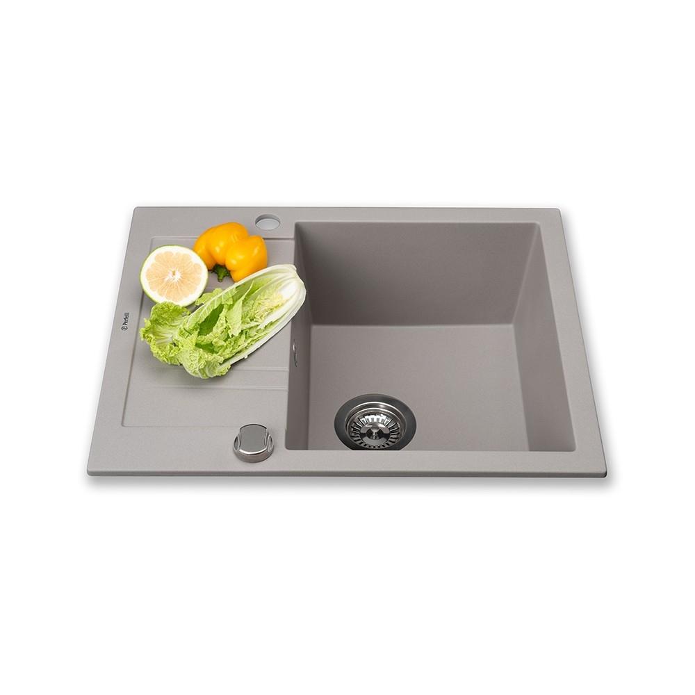 Lavello da cucina in granito Perfelli LINEA PGL 1341-60 GREY METALLIC