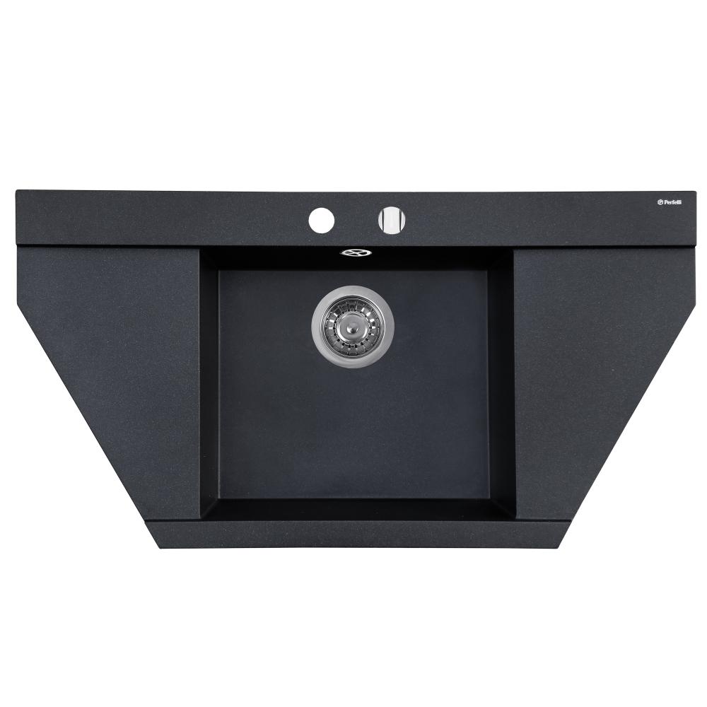 Lavello da cucina in granito Perfelli MAJESTIC TGM 125-96 BLACK