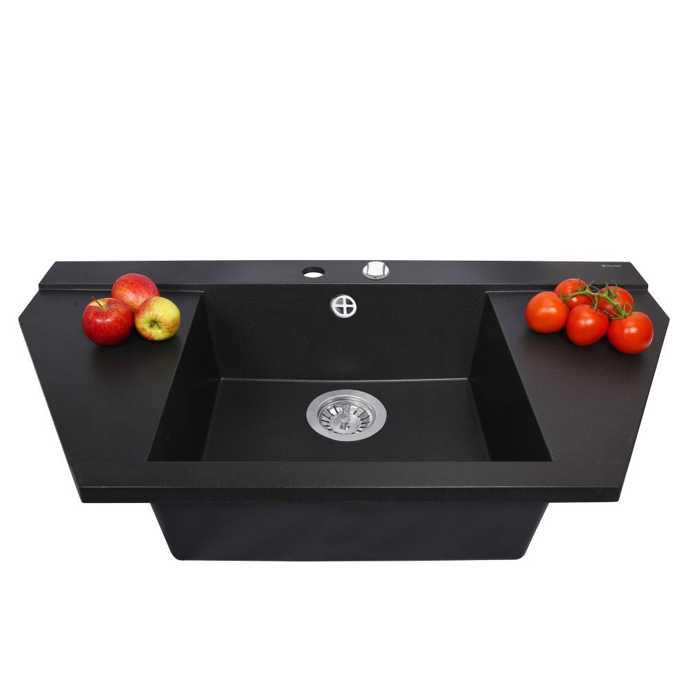 Granite kitchen sink Perfelli MAJESTIC TGM 125-96 BLACK
