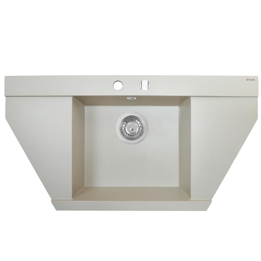 Мойка кухонная гранитная Perfelli MAJESTIC TGM 125-96 LIGHT BEIGE