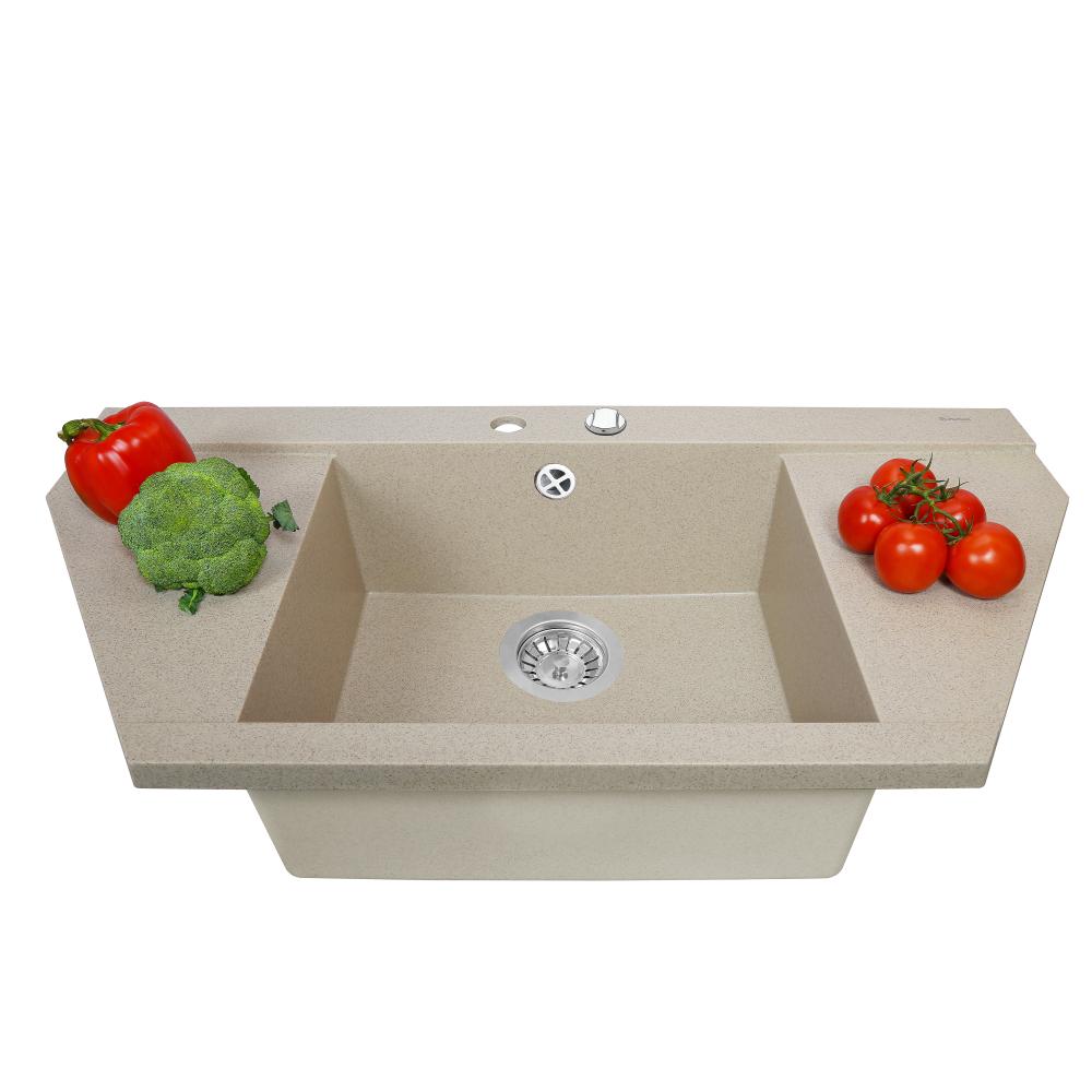 Granite kitchen sink Perfelli MAJESTIC TGM 125-96 SAND