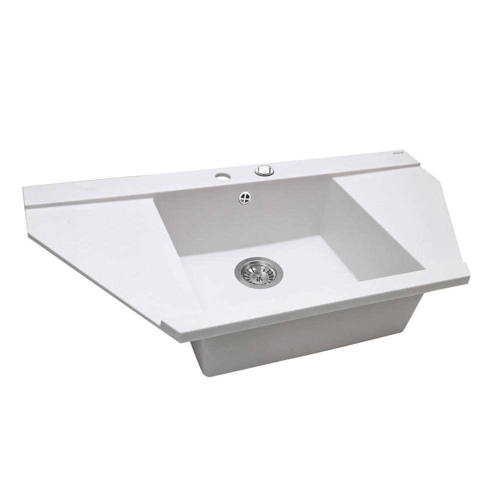 Lavello da cucina in granito Perfelli MAJESTIC TGM 125-96 WHITE