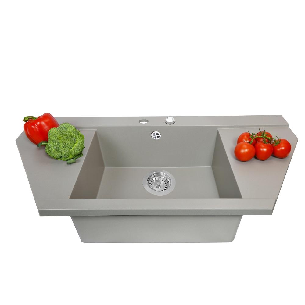 Мийка кухонна гранітна  Perfelli MAJESTIC TGM 1251-96 GREY METALLIC