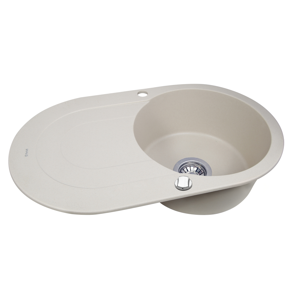 Granite kitchen sink Perfelli ORVIETTO OGO 114-78 LIGHT BEIGE