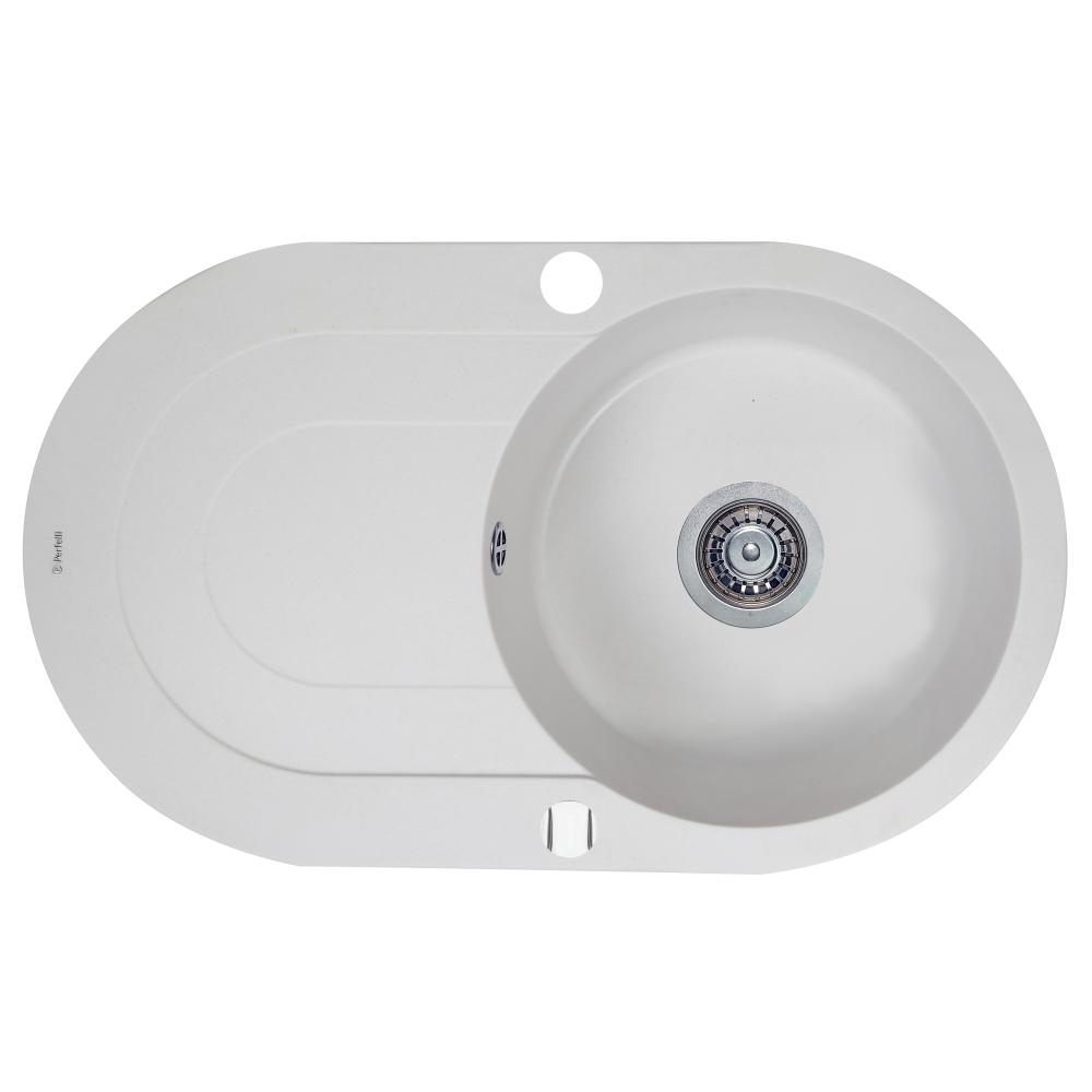 Мойка кухонная гранитная  Perfelli ORVIETTO OGO 114-78 WHITE