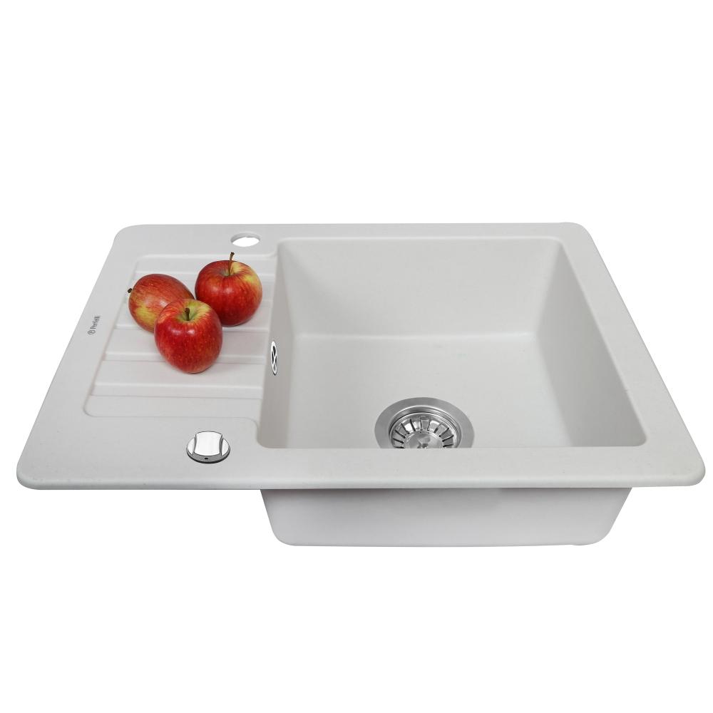 Мойка кухонная гранитная  Perfelli PICCOLO PGP 134-58 WHITE