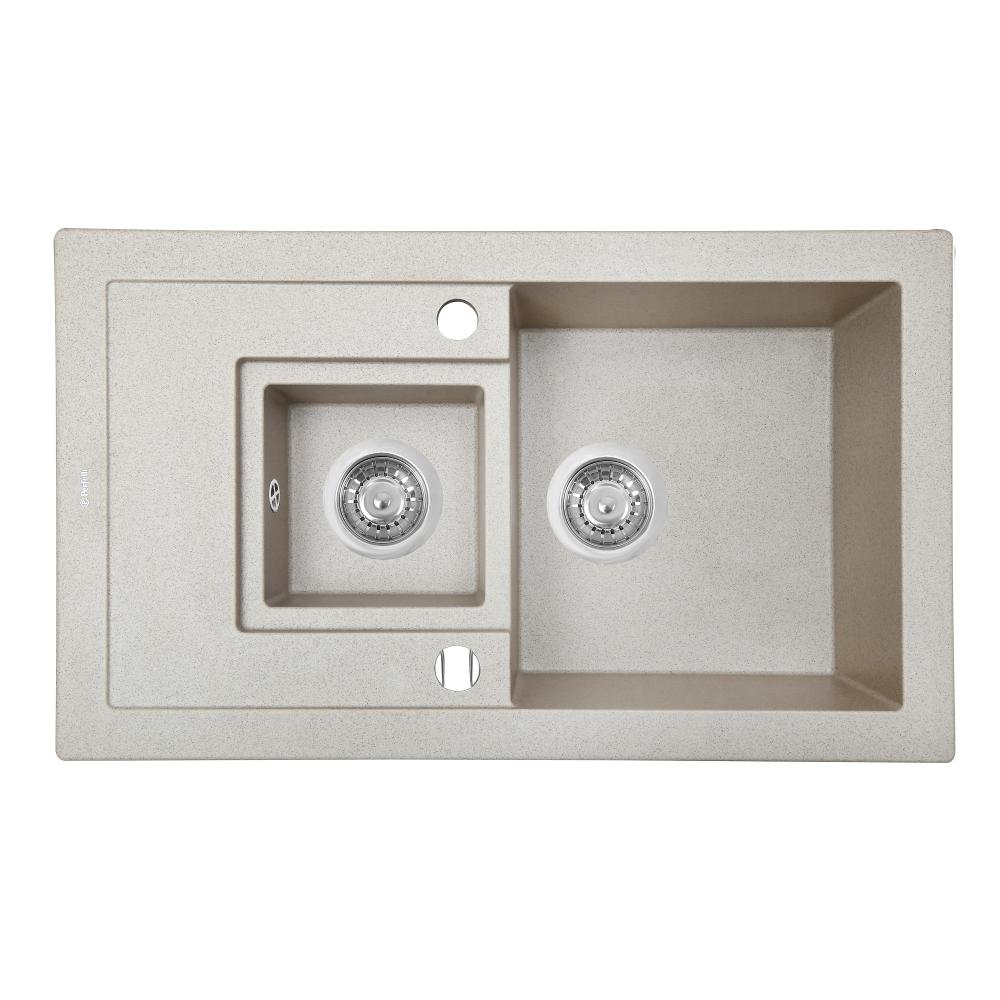 Lavello da cucina in granito Perfelli PIERRA PGP 536-78 SAND