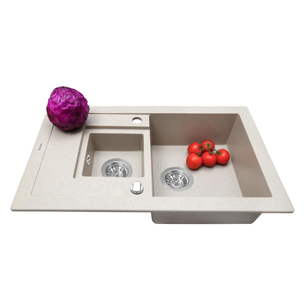 Granite kitchen sink Perfelli PIERRA PGP 536-78 SAND