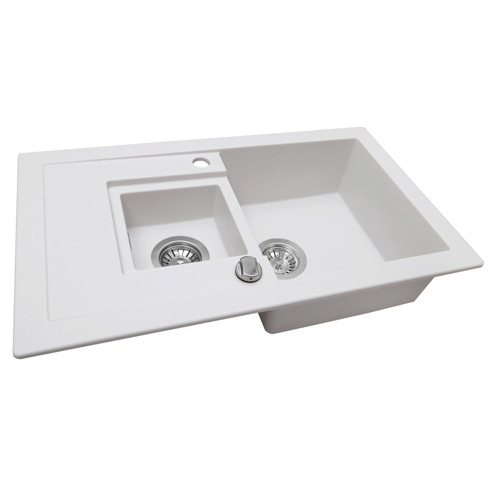 Granite kitchen sink Perfelli PIERRA PGP 536-78 WHITE