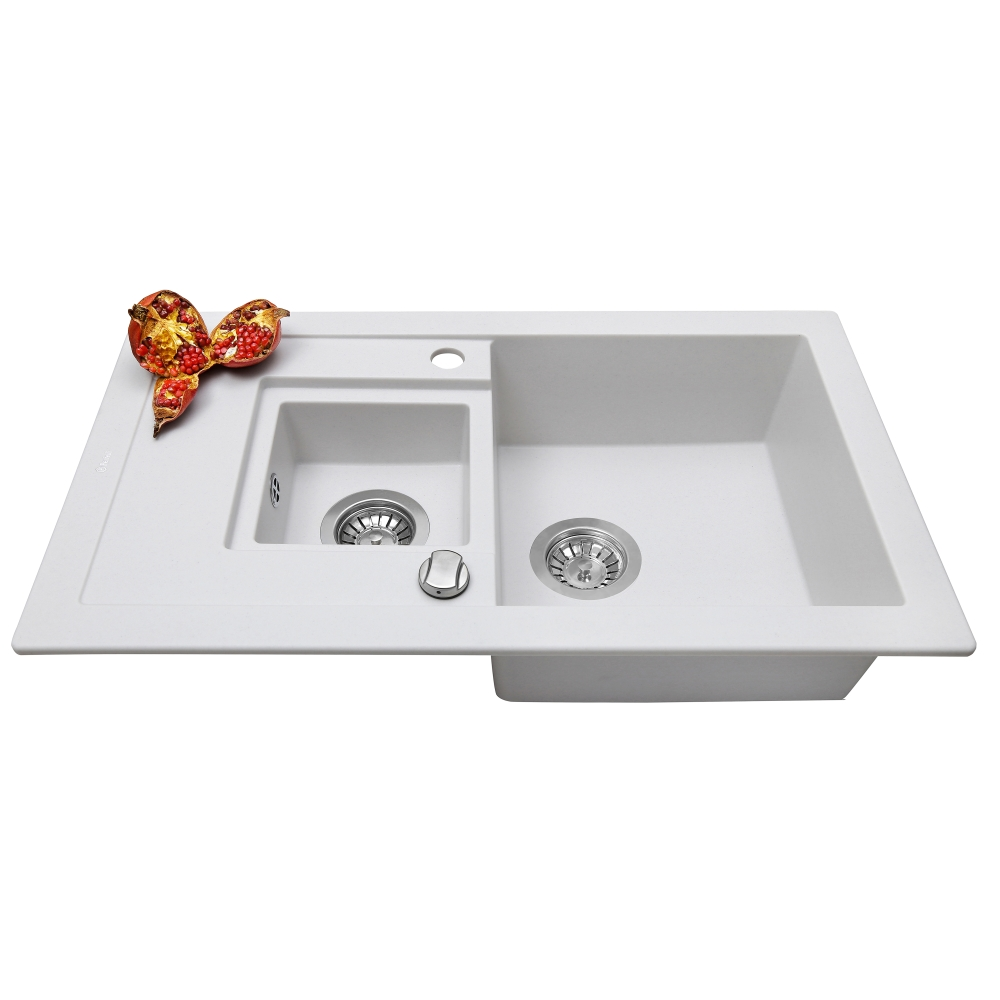 Мойка кухонная гранитная Perfelli PIERRA PGP 536-78 WHITE
