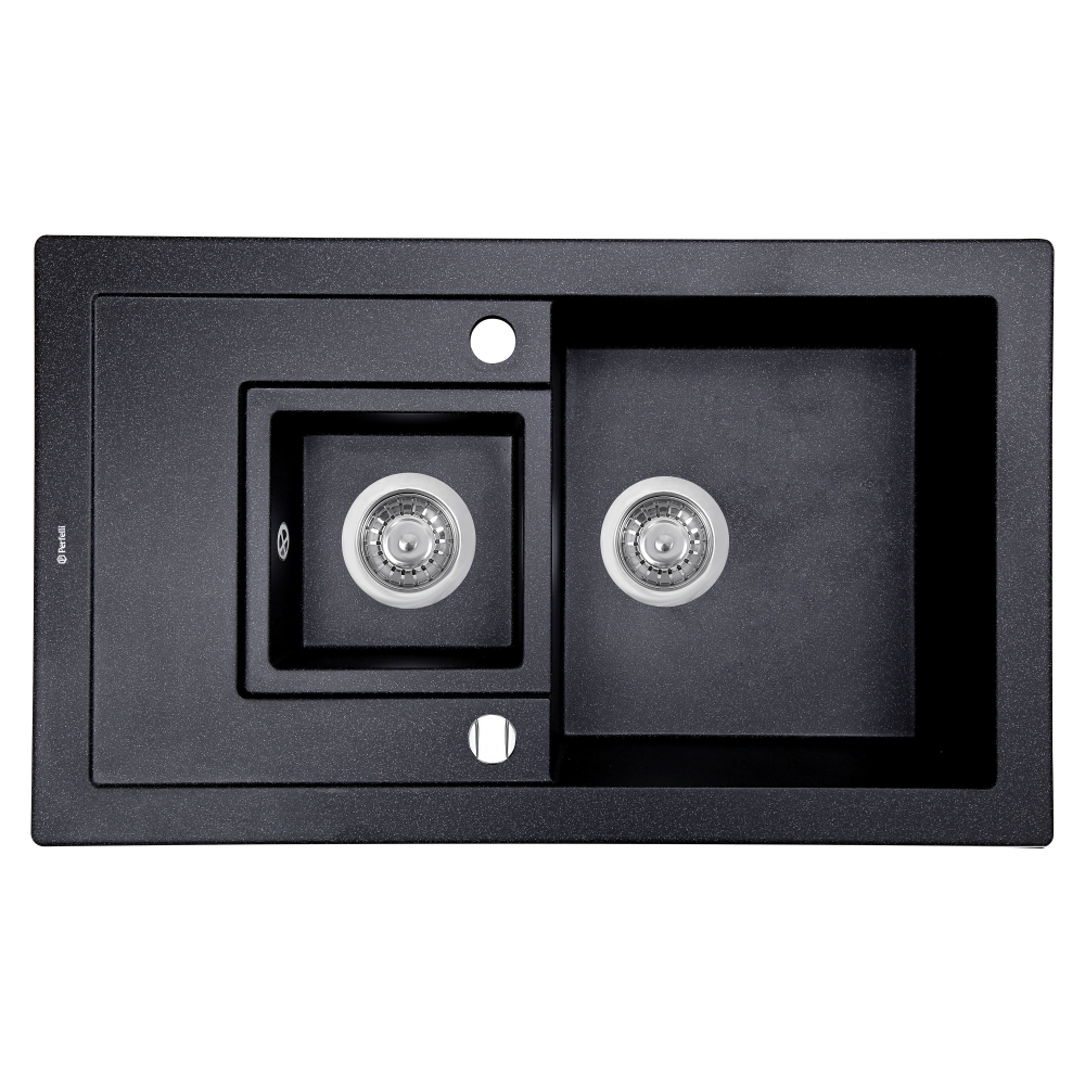 Мойка кухонная гранитная Perfelli PIERRA PGP 5361-78 BLACK METALLIC