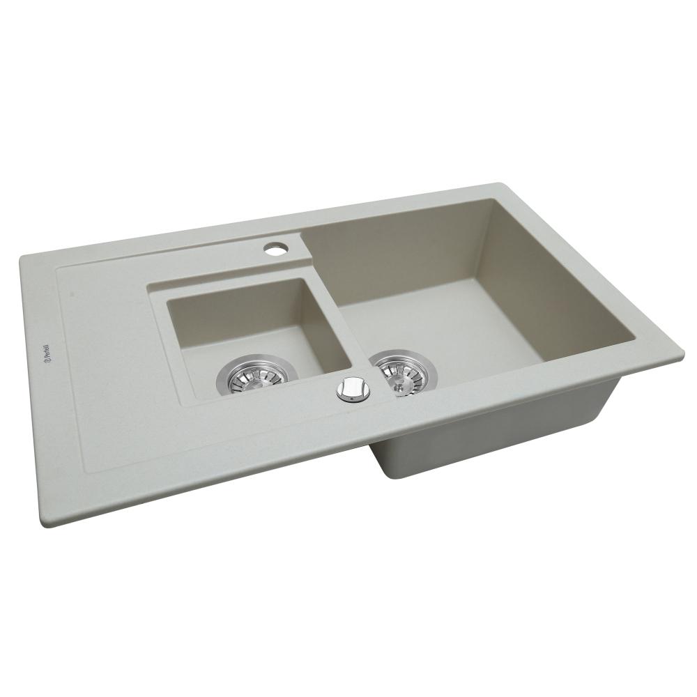 Lavello da cucina in granito Perfelli PIERRA PGP 5361-78 GREY METALLIC