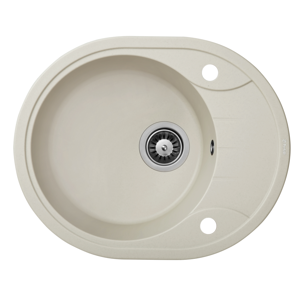 Granite kitchen sink Perfelli PRIMO OGP 135-58 LIGHT BEIGE
