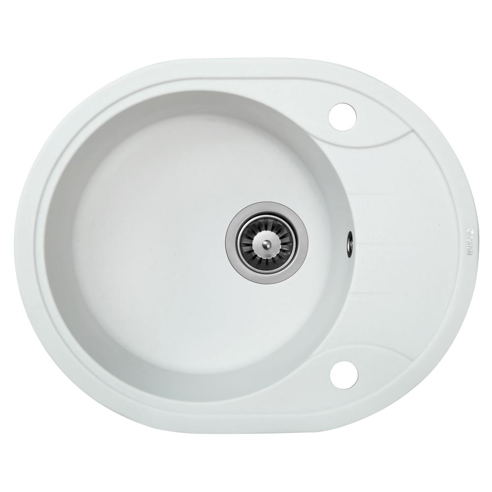 Granite kitchen sink Perfelli PRIMO OGP 135-58 WHITE