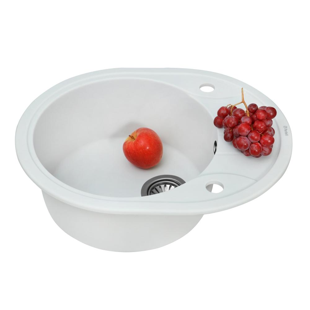 Lavello da cucina in granito Perfelli PRIMO OGP 135-58 WHITE