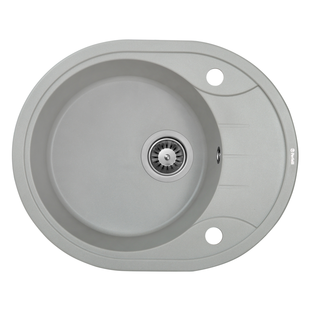 Granite kitchen sink Perfelli PRIMO OGP 1351-58 GREY METALLIC