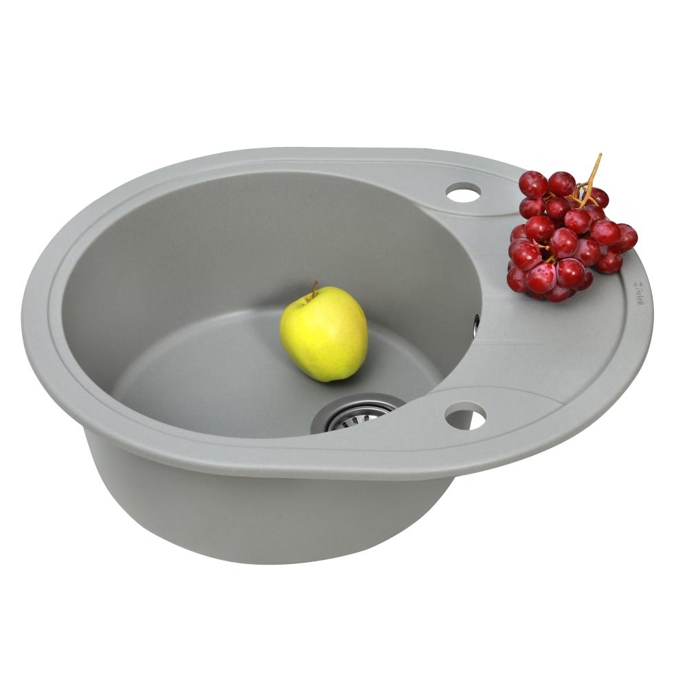 Lavello da cucina in granito Perfelli PRIMO OGP 1351-58 GREY METALLIC