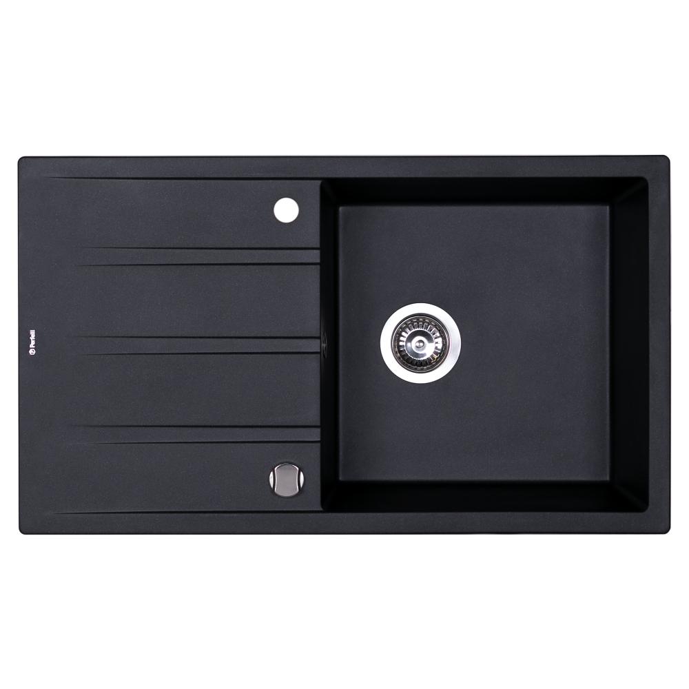 Granite kitchen sink Perfelli RIVIERA PGR 114-86 BLACK