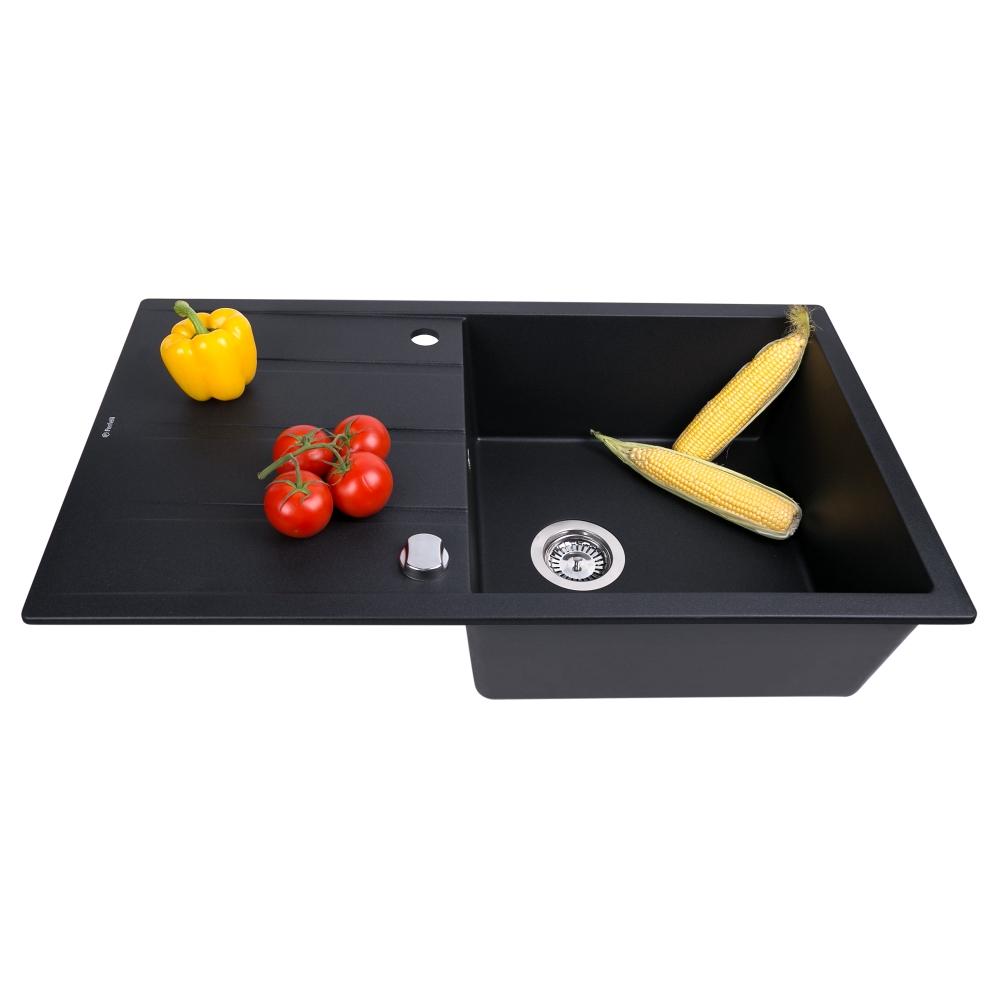 Lavello da cucina in granito Perfelli RIVIERA PGR 114-86 BLACK