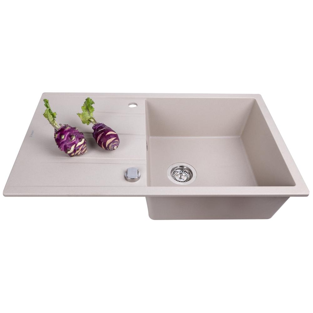 Lavello da cucina in granito Perfelli RIVIERA PGR 114-86 LIGHT BEIGE