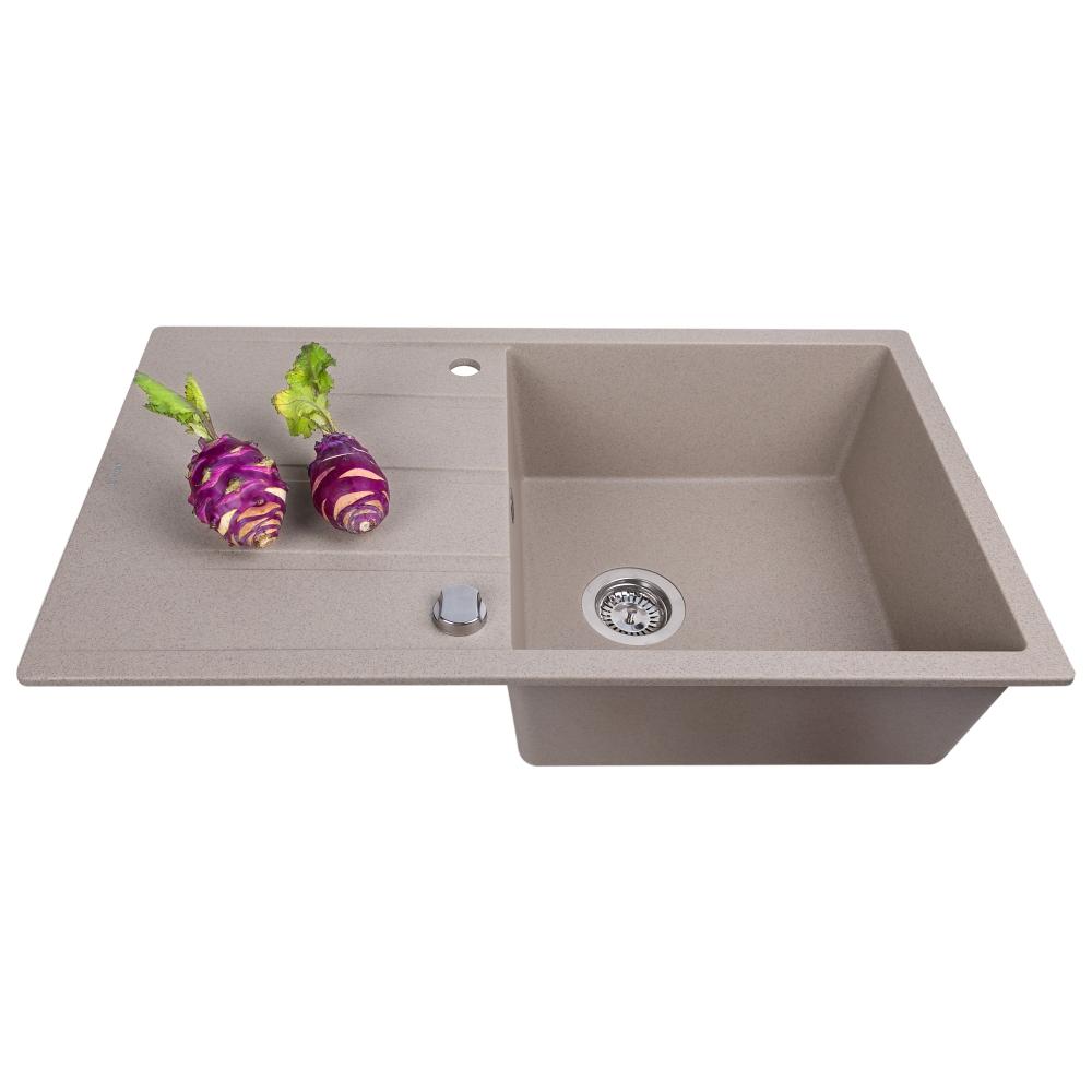 Lavello da cucina in granito Perfelli RIVIERA PGR 114-86 SAND