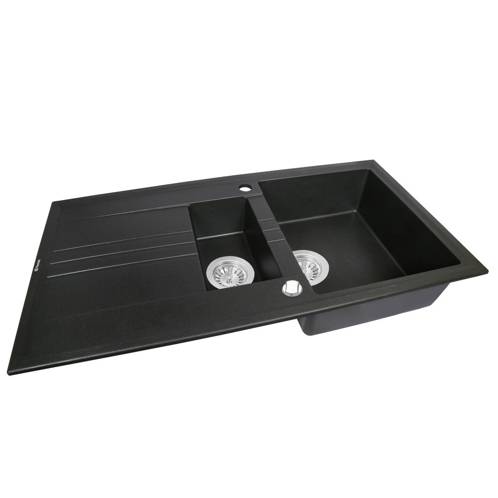 Granite kitchen sink Perfelli SANTINO PGS 516-96 BLACK