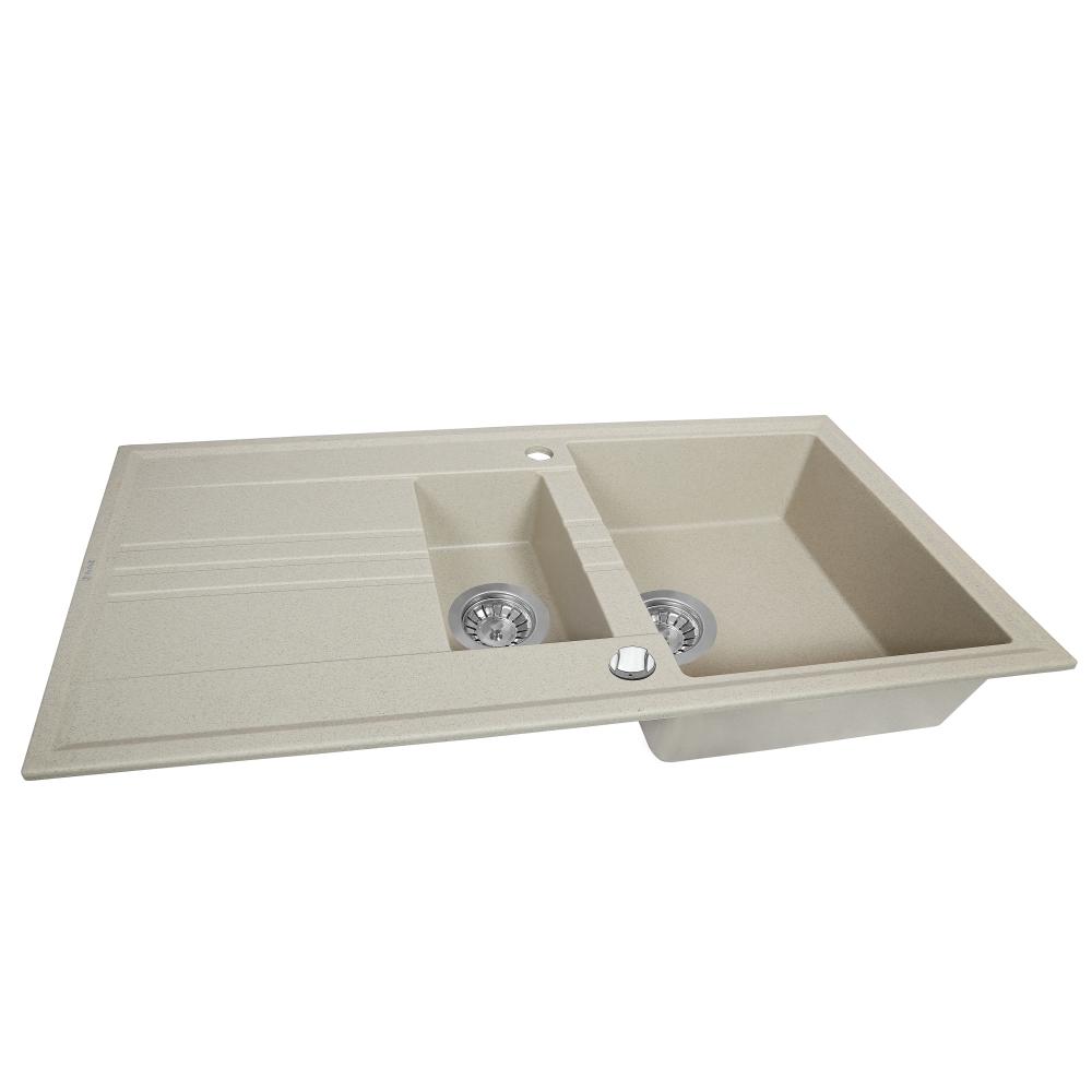 Lavello da cucina in granito Perfelli SANTINO PGS 516-96 SAND