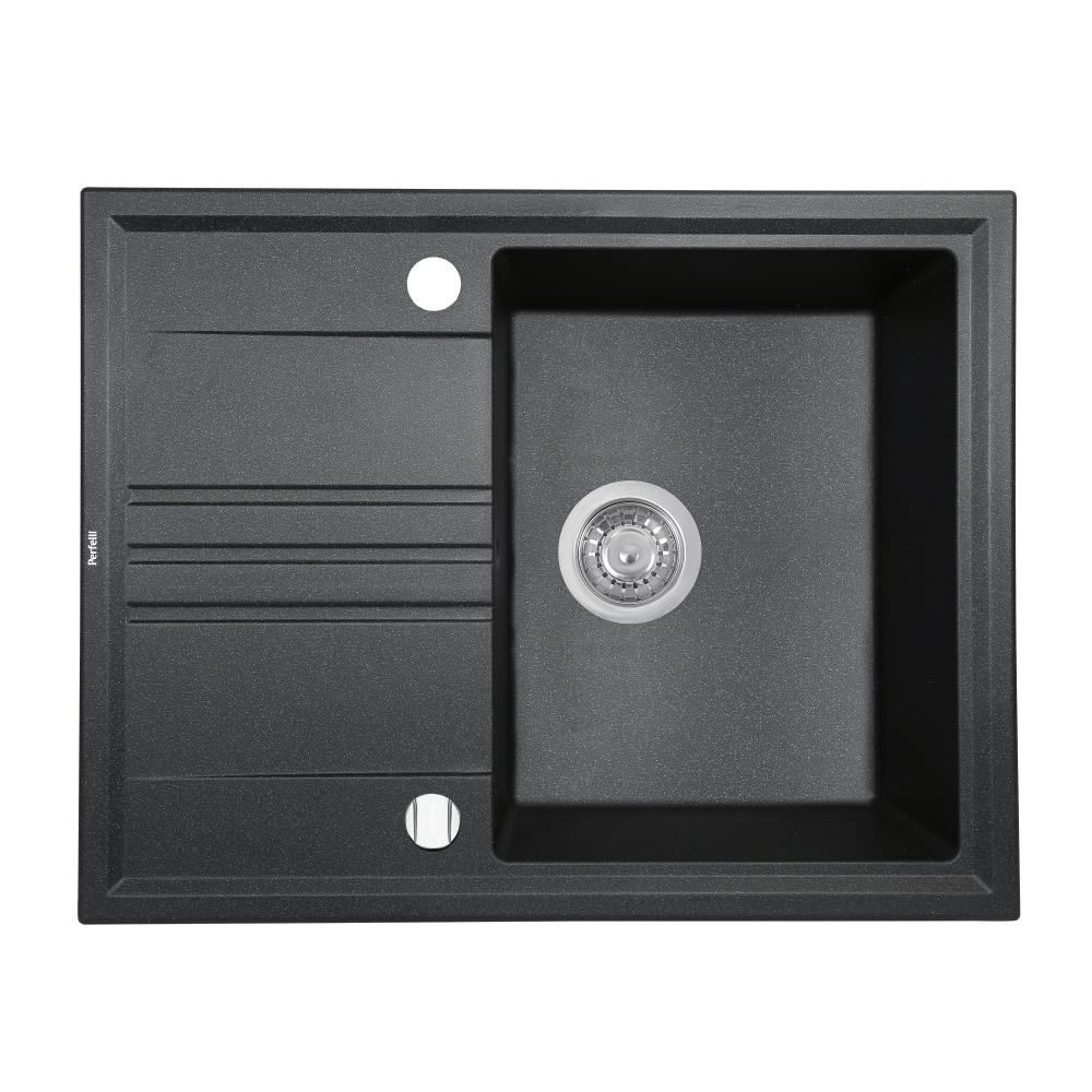 Granite kitchen sink Perfelli SILVE PGS 134-64 BLACK
