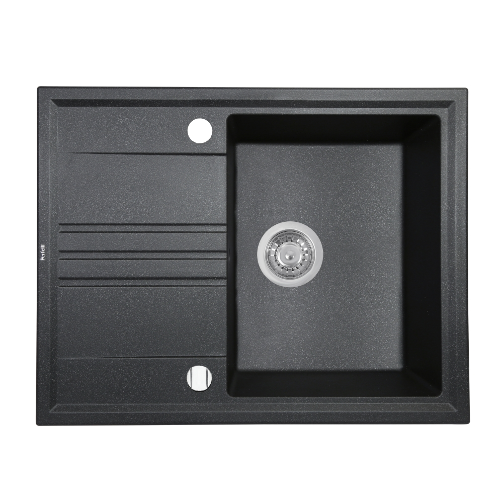 Мойка кухонная гранитная  Perfelli SILVE PGS 134-64 BLACK