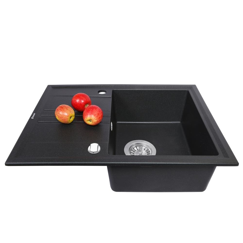 Lavello da cucina in granito Perfelli SILVE PGS 134-64 BLACK
