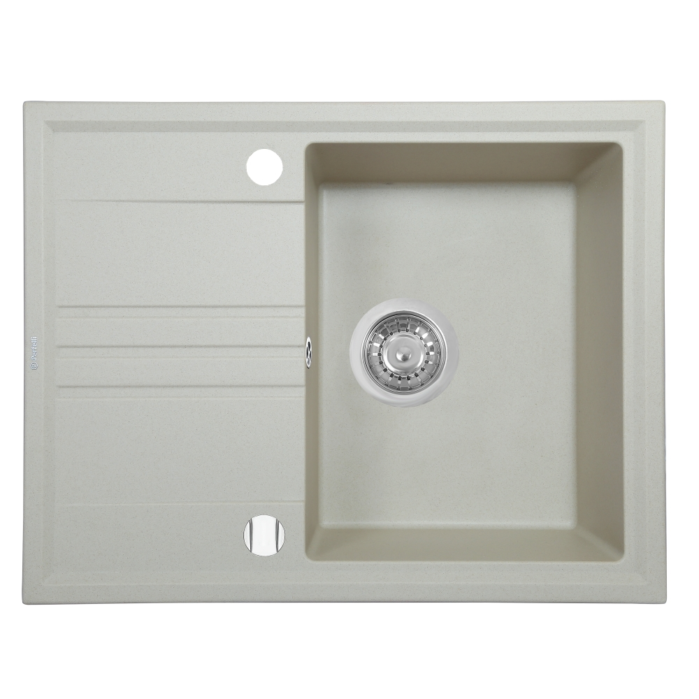 Granite kitchen sink Perfelli SILVE PGS 134-64 LIGHT BEIGE