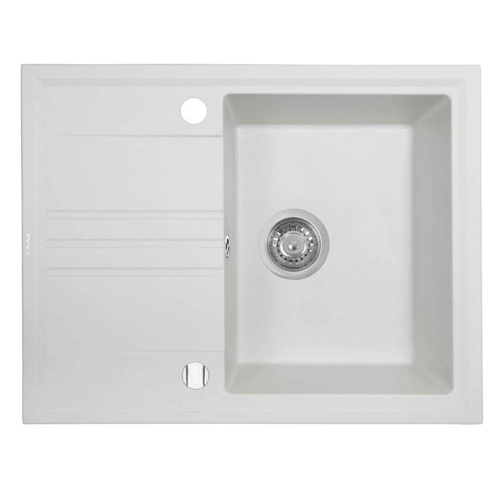 Lavello da cucina in granito Perfelli SILVE PGS 134-64 WHITE