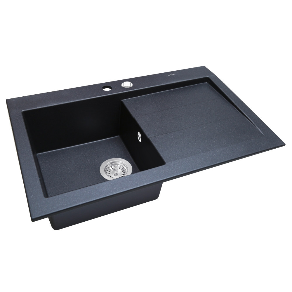 Мийка кухонна гранітна  Perfelli SOLO PGS 118-80 BLACK