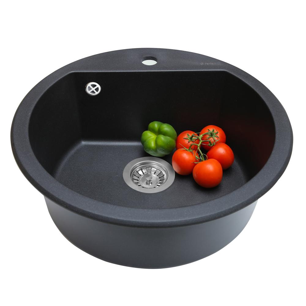 Granite kitchen sink Perfelli SONNO RGS 105-51 BLACK