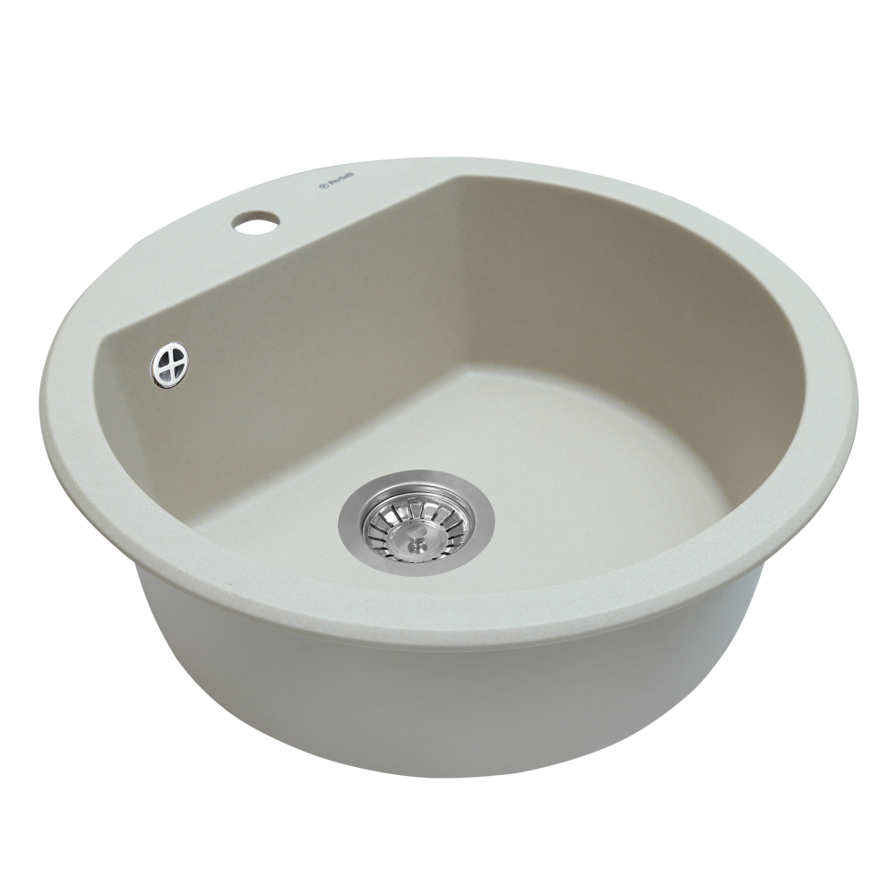 Granite kitchen sink Perfelli SONNO RGS 105-51 LIGHT BEIGE
