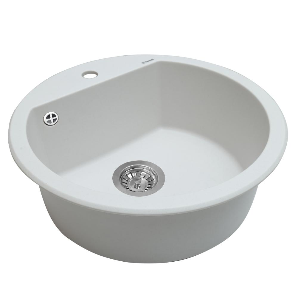 Granite kitchen sink Perfelli SONNO RGS 105-51 WHITE