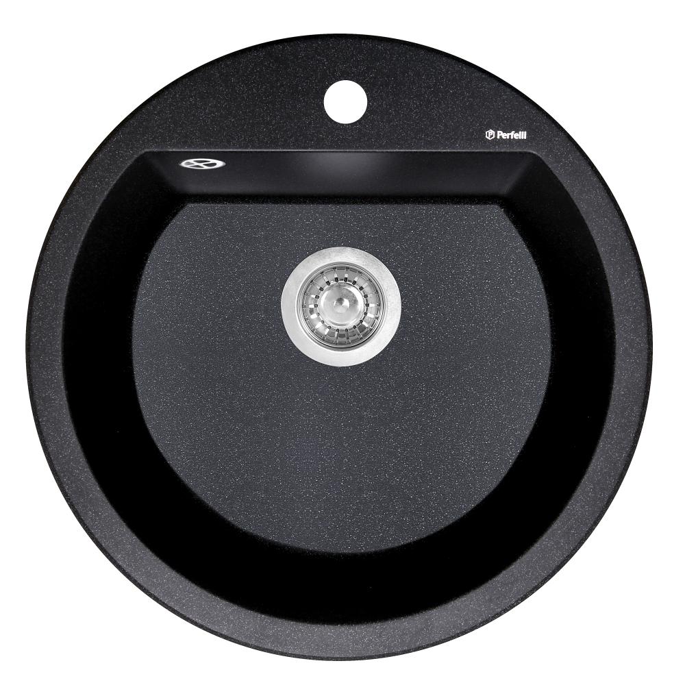 Lavello da cucina in granito Perfelli SONNO RGS 1051-51 BLACK METALLIC