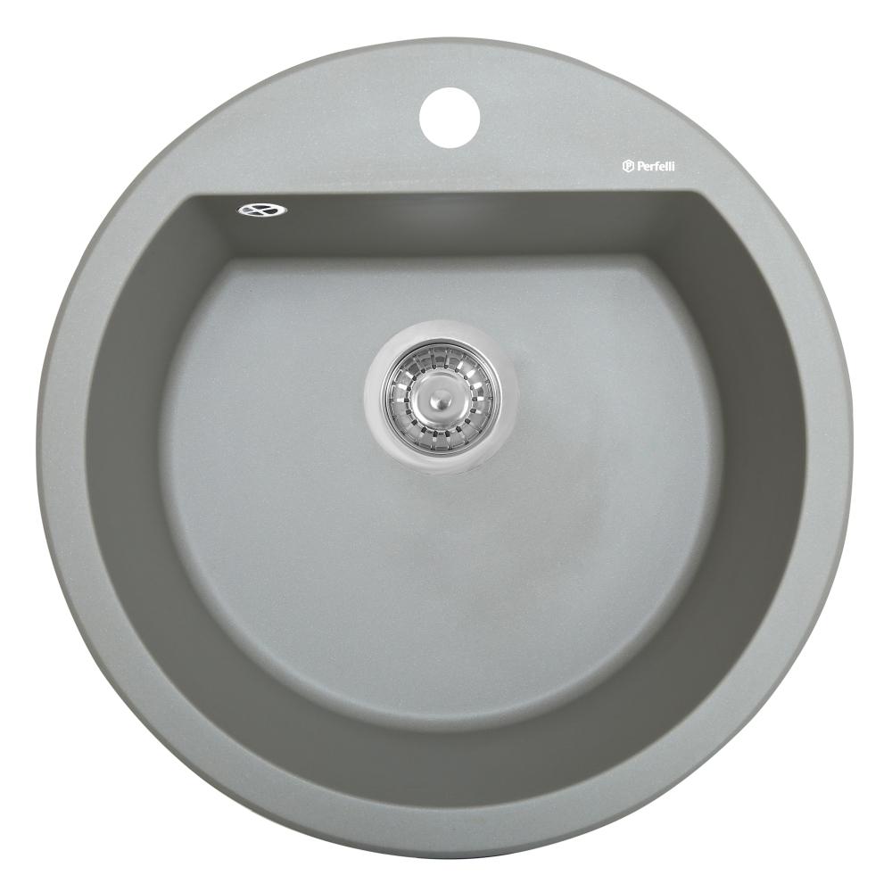 Мойка кухонная гранитная  Perfelli SONNO RGS 1051-51 GREY METALLIC