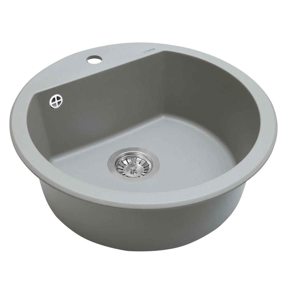 Granite kitchen sink Perfelli SONNO RGS 1051-51 GREY METALLIC
