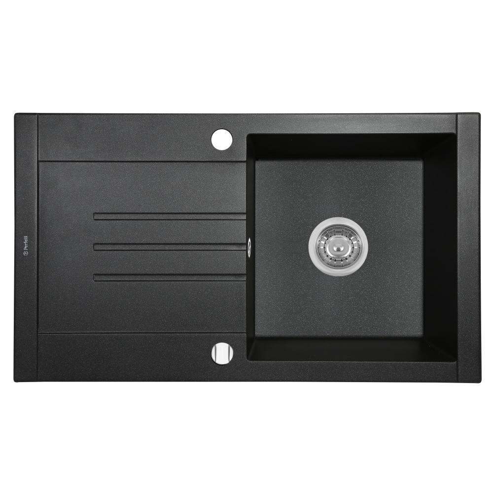 Granite kitchen sink Perfelli TINETTO PGT 114-76 BLACK