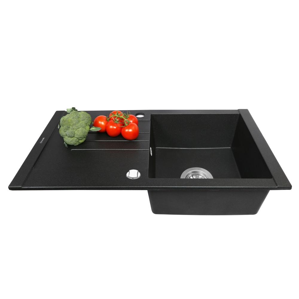 Lavello da cucina in granito Perfelli TINETTO PGT 114-76 BLACK