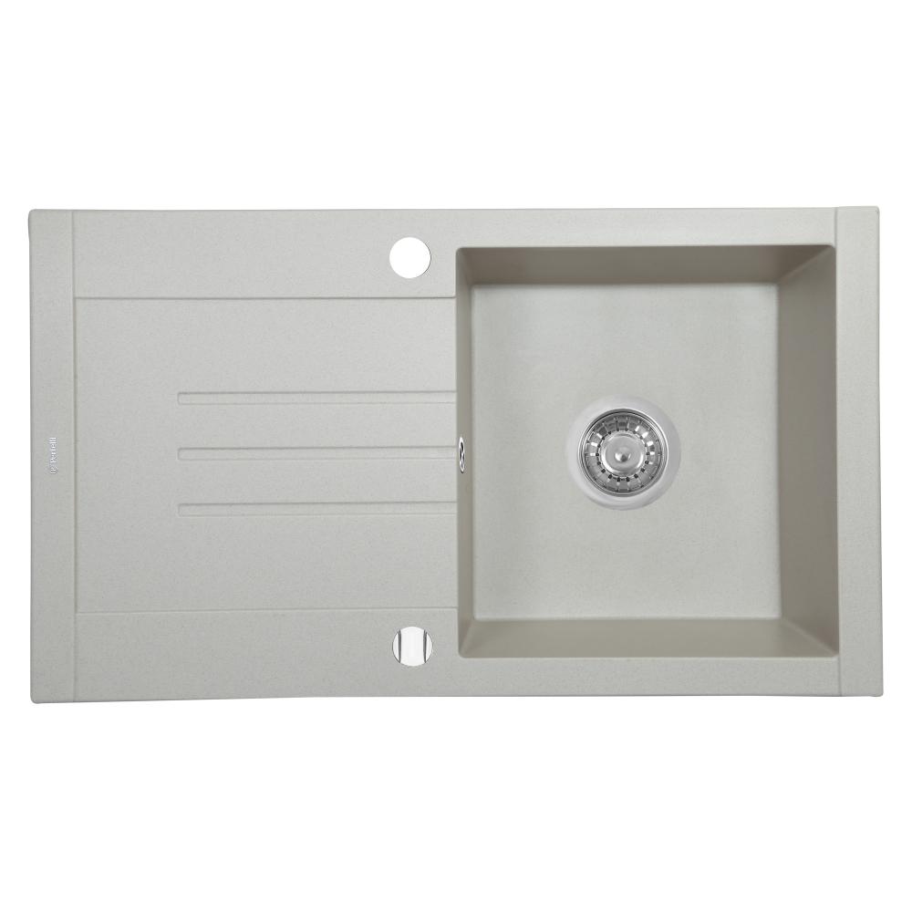 Granite kitchen sink Perfelli TINETTO PGT 114-76 LIGHT BEIGE