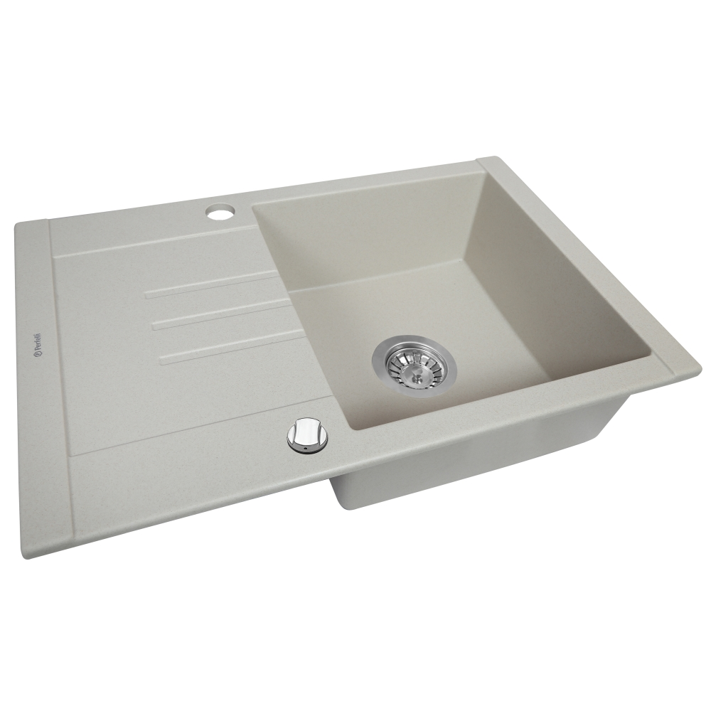 Granite kitchen sink Perfelli TINO PGT 134-66 LIGHT BEIGE