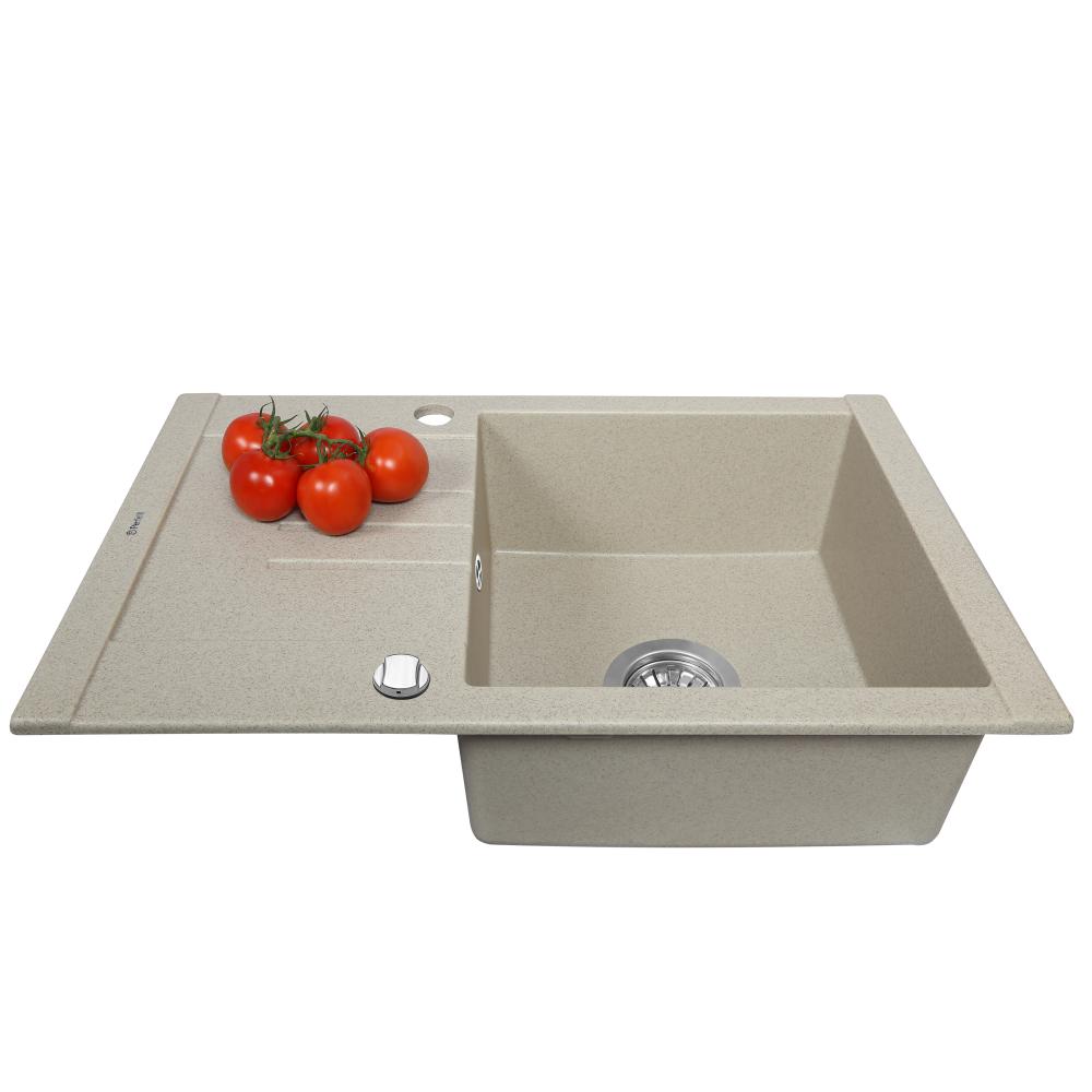 Granite kitchen sink Perfelli TINO PGT 134-66 SAND