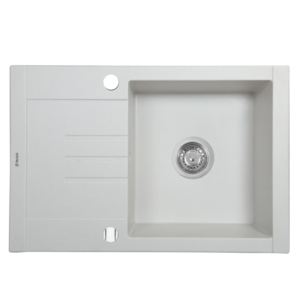 Мойка кухонная гранитная  Perfelli TINO PGT 134-66 WHITE