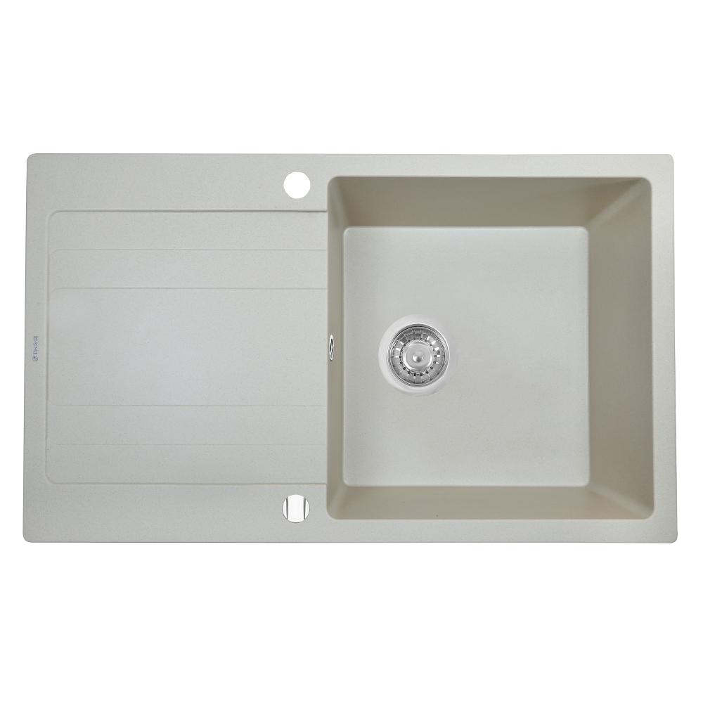 Granite kitchen sink Perfelli VILLA PGV 114-86 LIGHT BEIGE